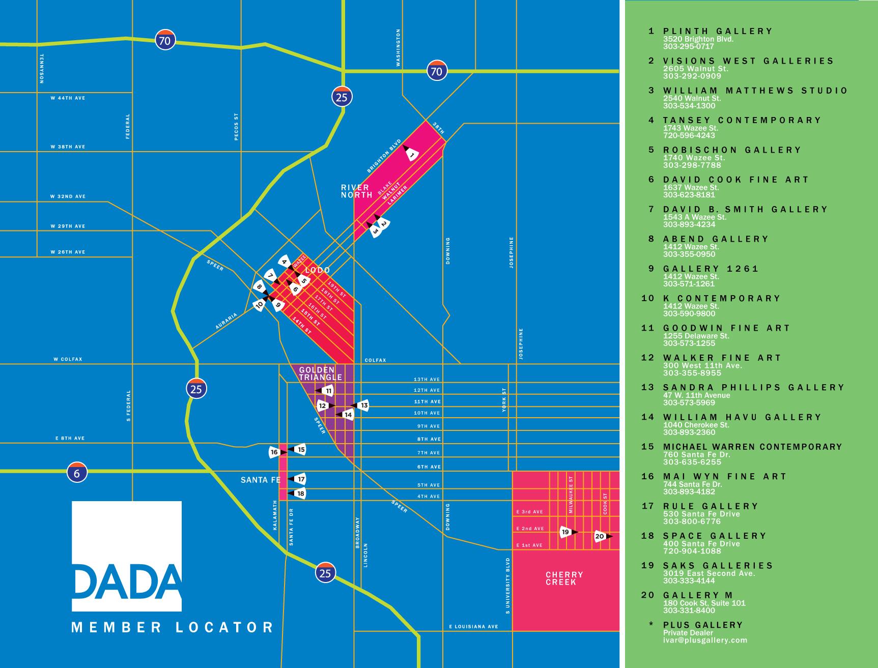 Links Denver Art Museum Map on